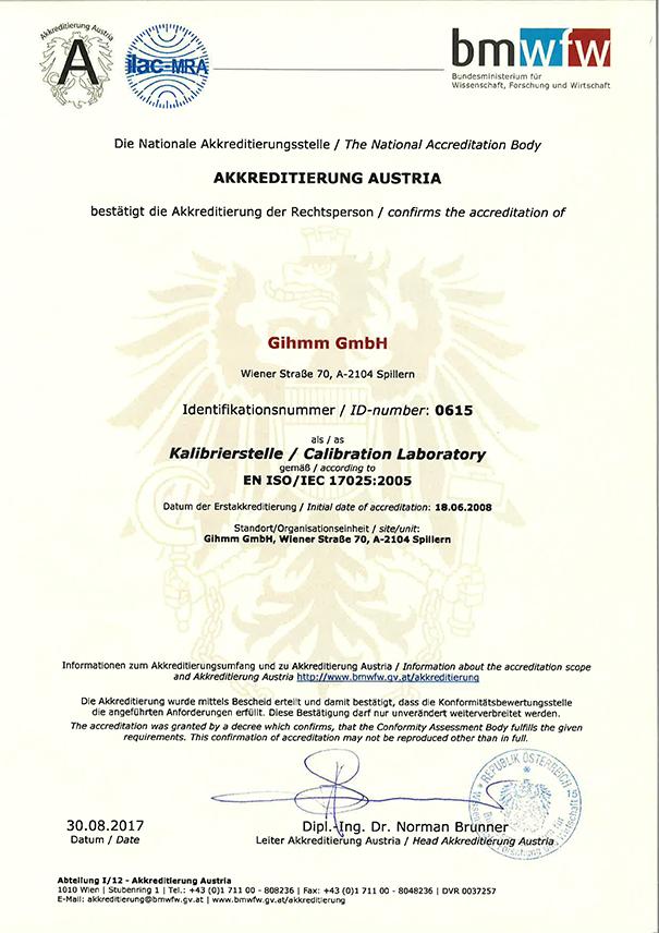 GIHMM ISO17025 KalibrierLabor / calibration laboratory